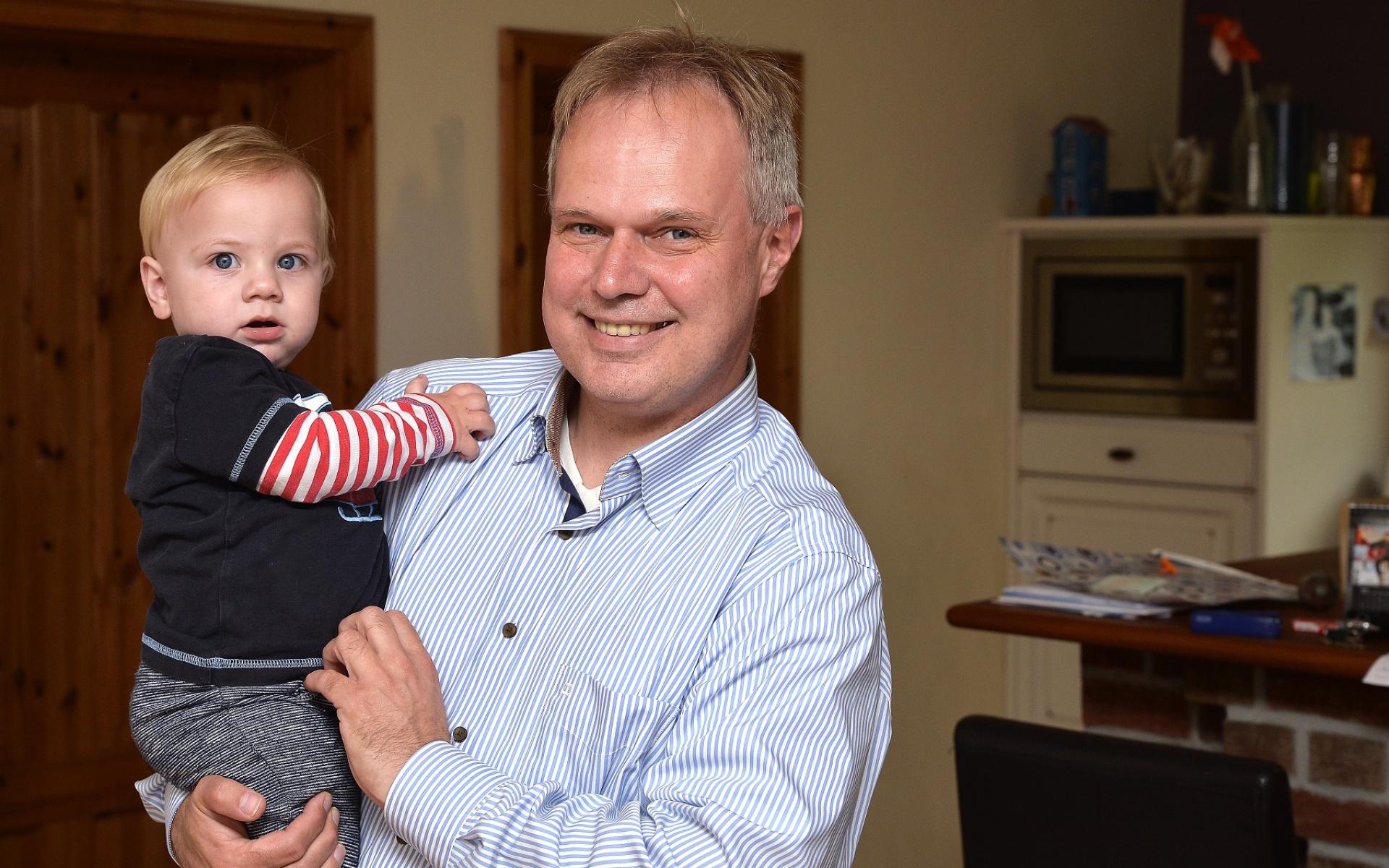 Ein Geschenk zum ersten Geburtstag seines Sohnes Joost ist eine Fördermitgliedschaft im DRF e. V., verrät Papa Olaf Wendlandt.