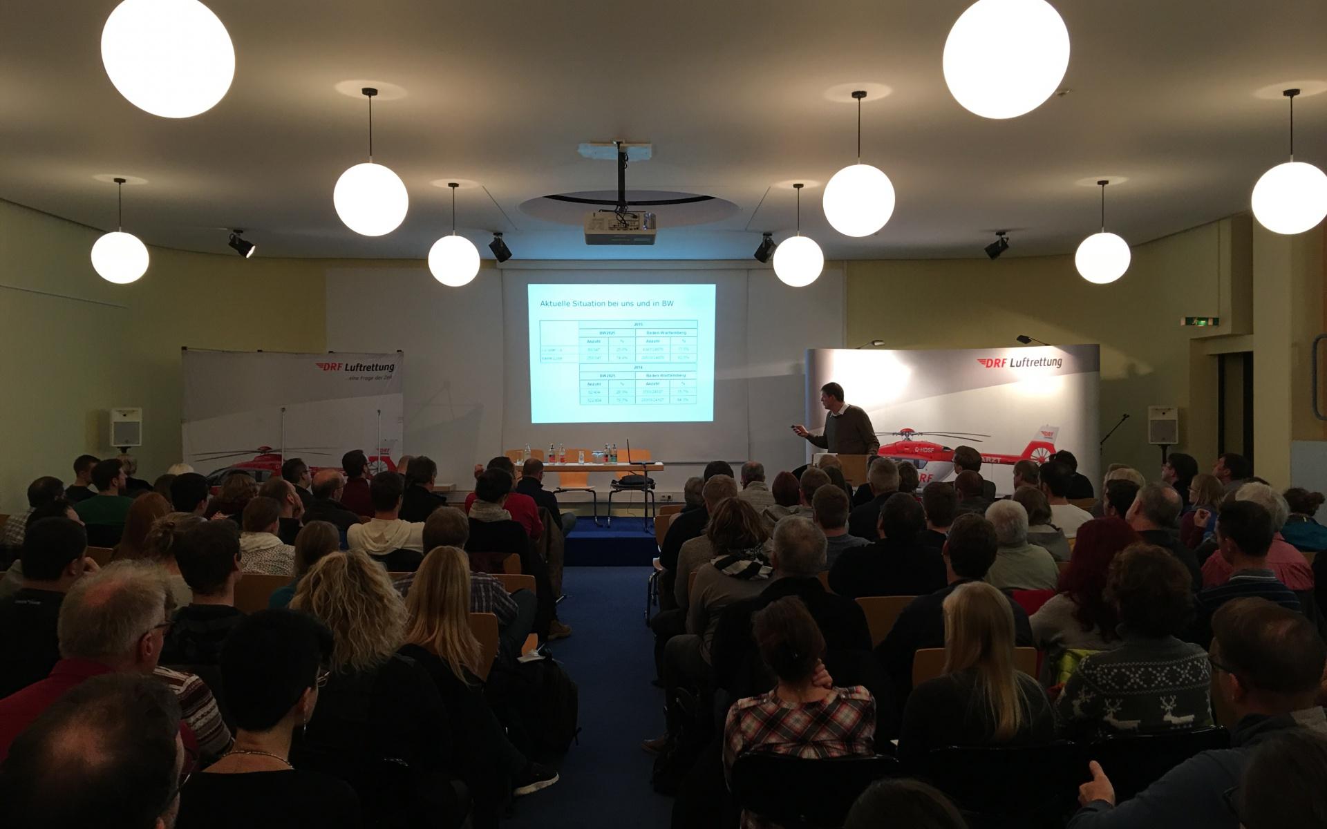 Rund 200 Teilnehmer besuchten den 11. Christoph 45-Tag in Friedrichshafen und lauschten verschiedenen Fachvorträgen.