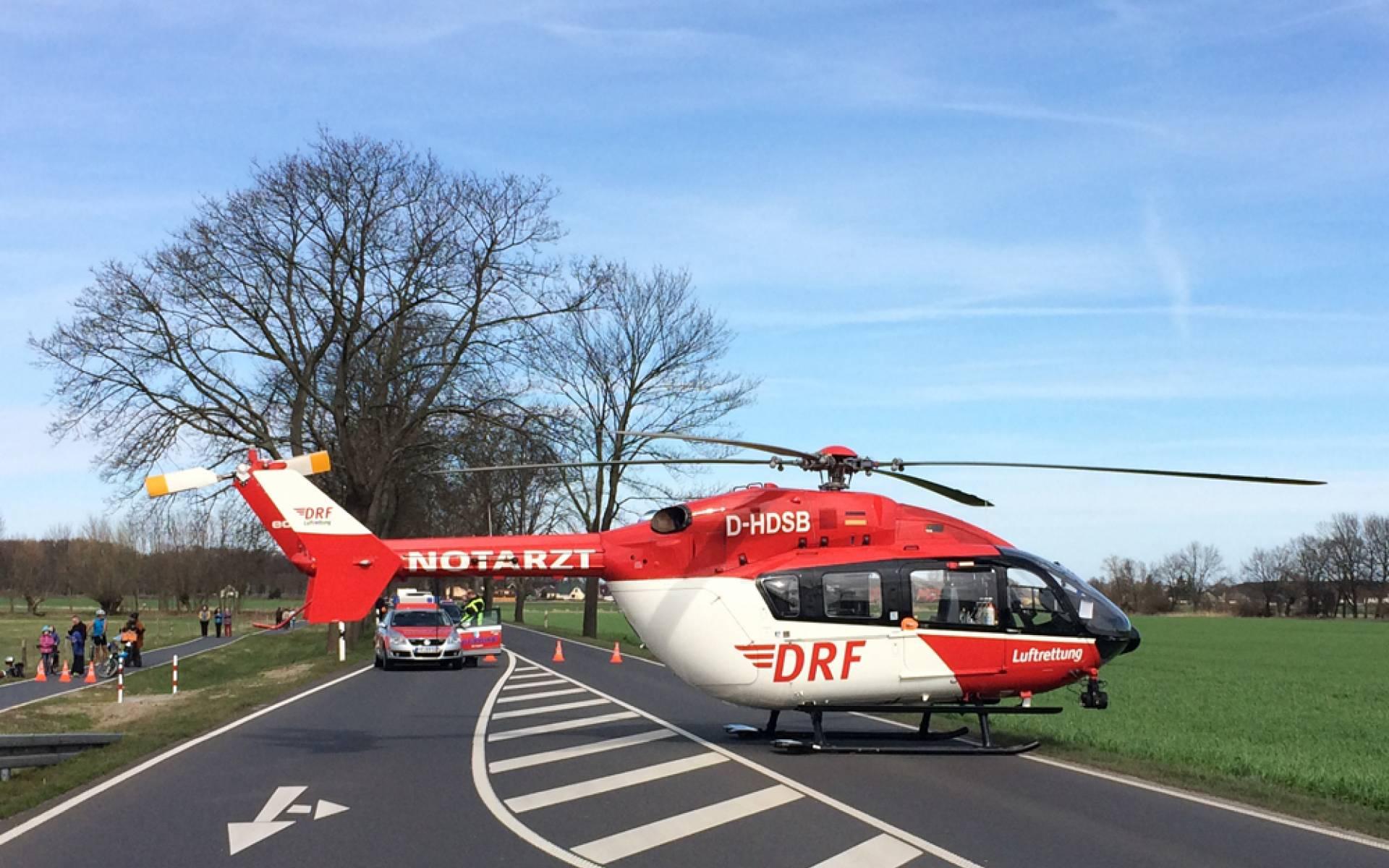 Der Hubschrauber aus Berlin bei einem Einsatz am Osterwochenende.