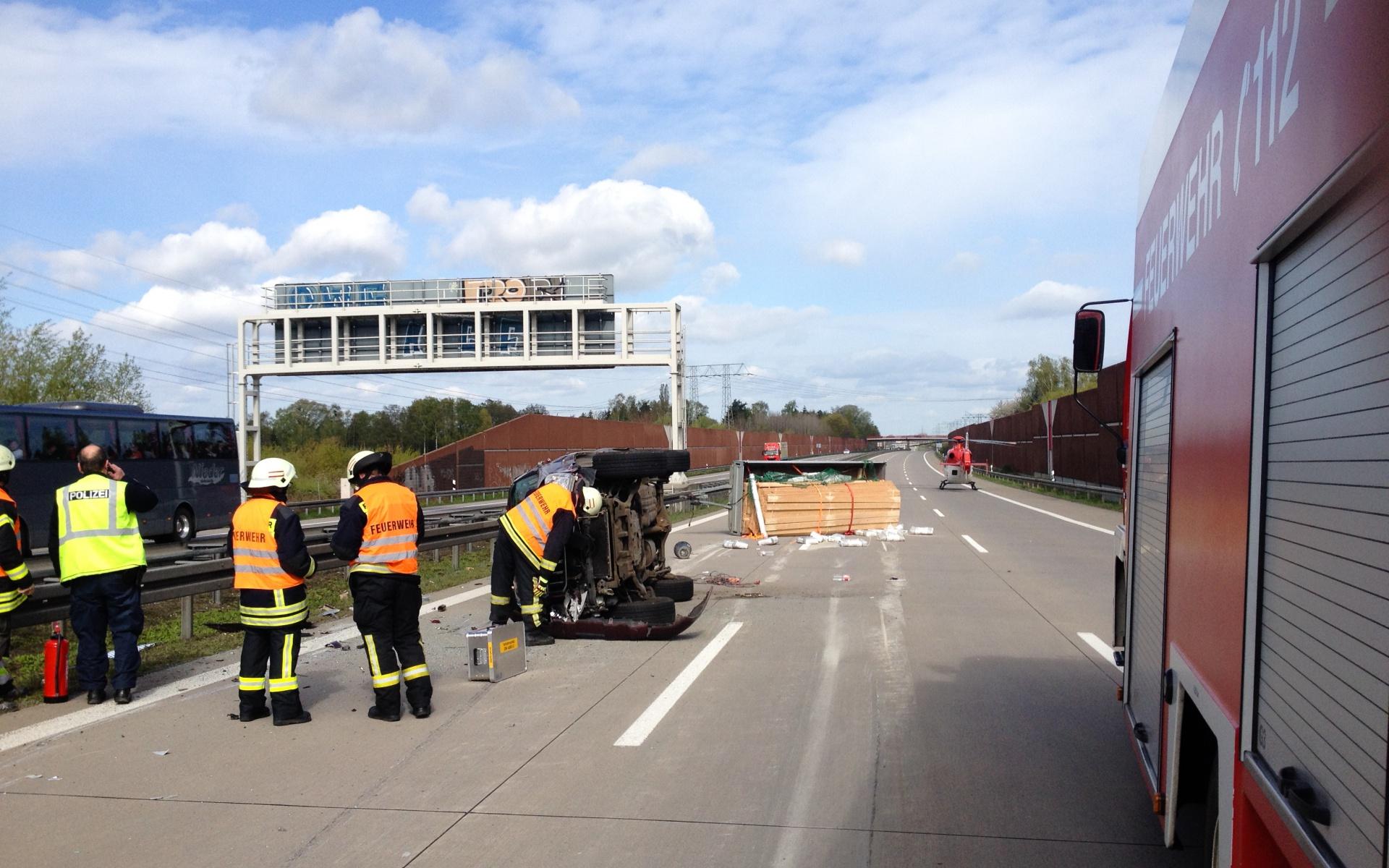 Glück im Unglück: Keines der sechs Unfallopfer wurde schwer verletzt.