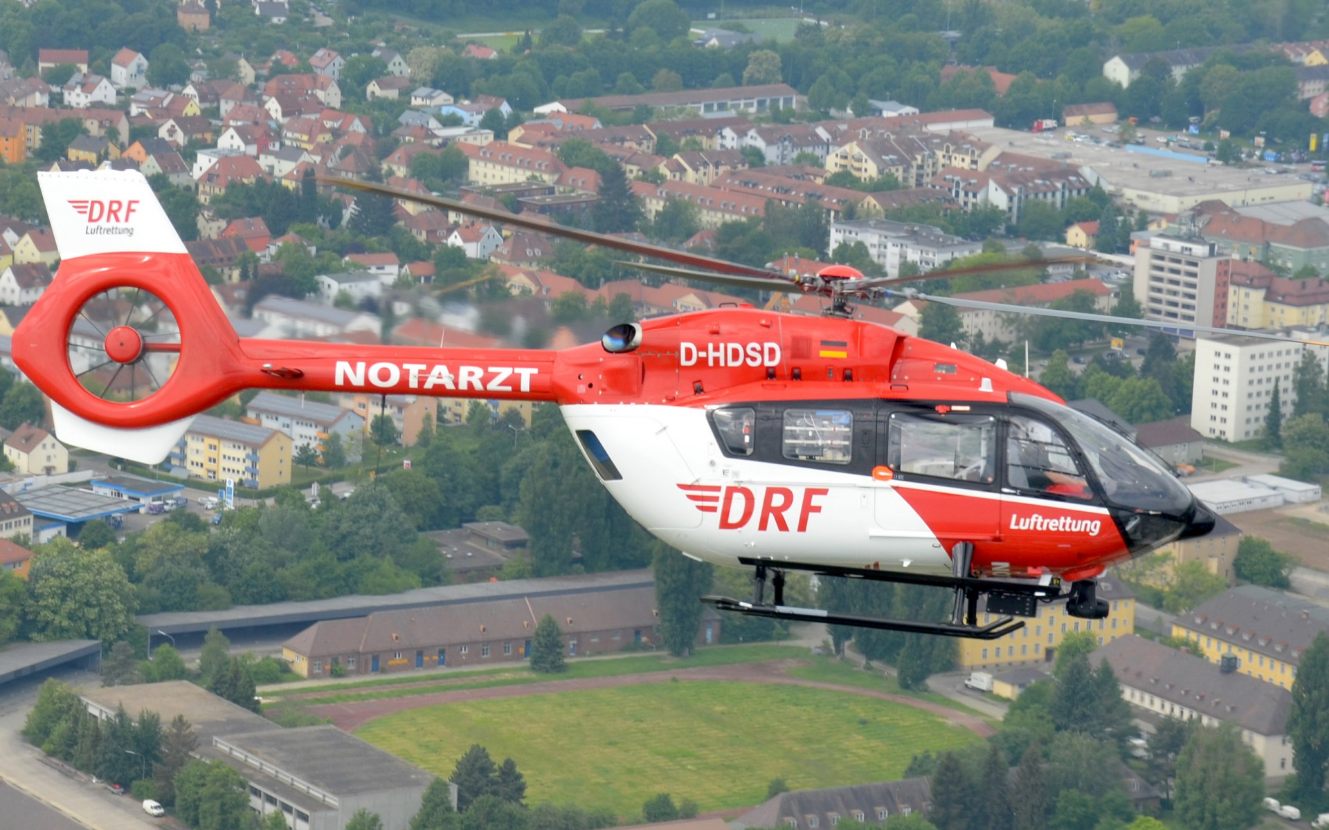 Hubschrauber über Nürnberg