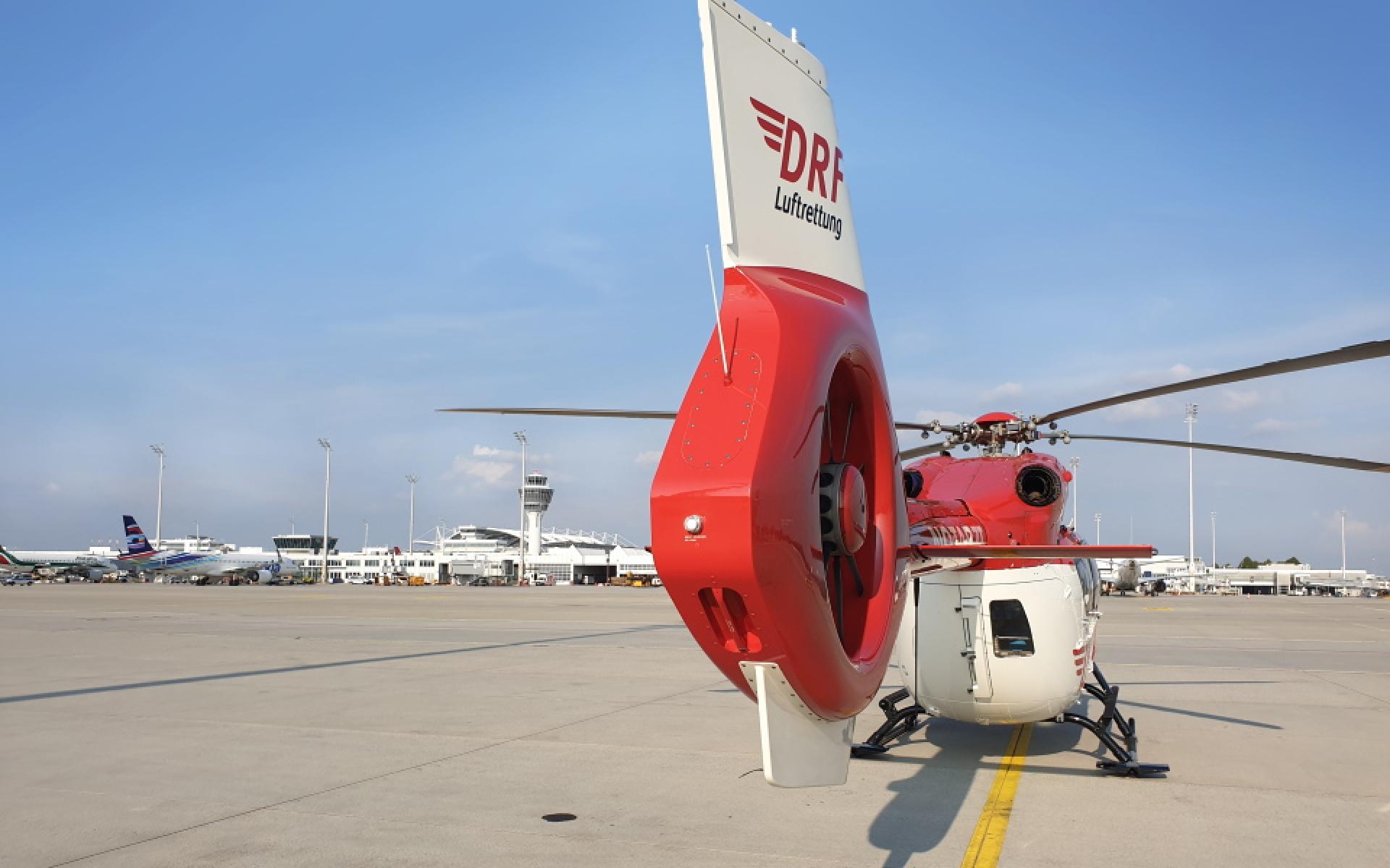 Der an der Station München eingesetzte Hubschrauber ist 24 Stunden täglich einsatzbereit.