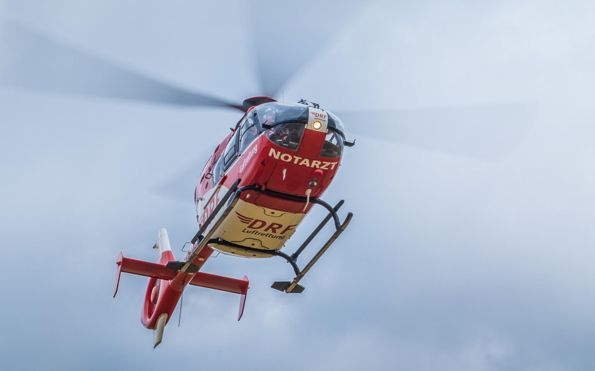 Notfallorte im Umkreis von 60 Kilometern kann der Nordhäuser Hubschrauber der DRF Luftrettung in maximal 15 Flugminuten erreichen (Symbolbild).