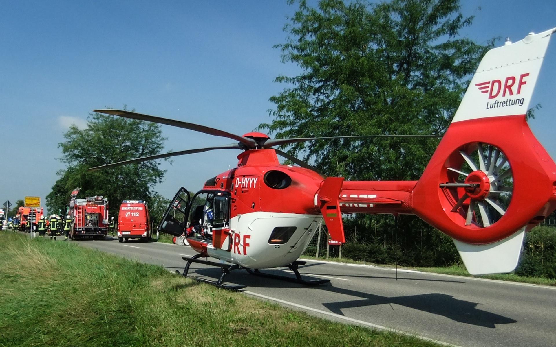 Der Friedrichshafener Rettungshubschrauber im Notfalleinsatz.