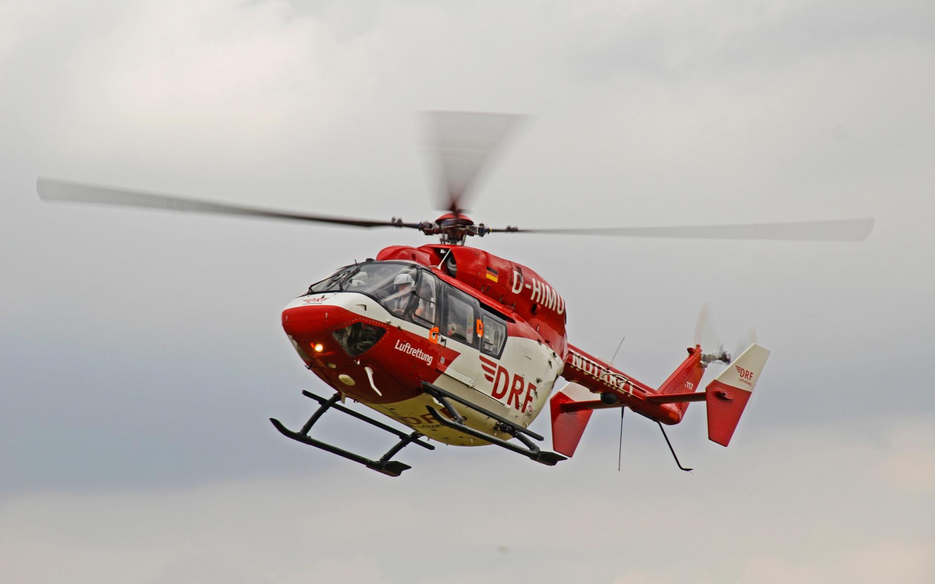 Mit einem Hubschrauber des Typs BK 117 starten die Dortmunder Luftretter zu ihren oft lebensrettenden Einsätzen. Symbolbild.