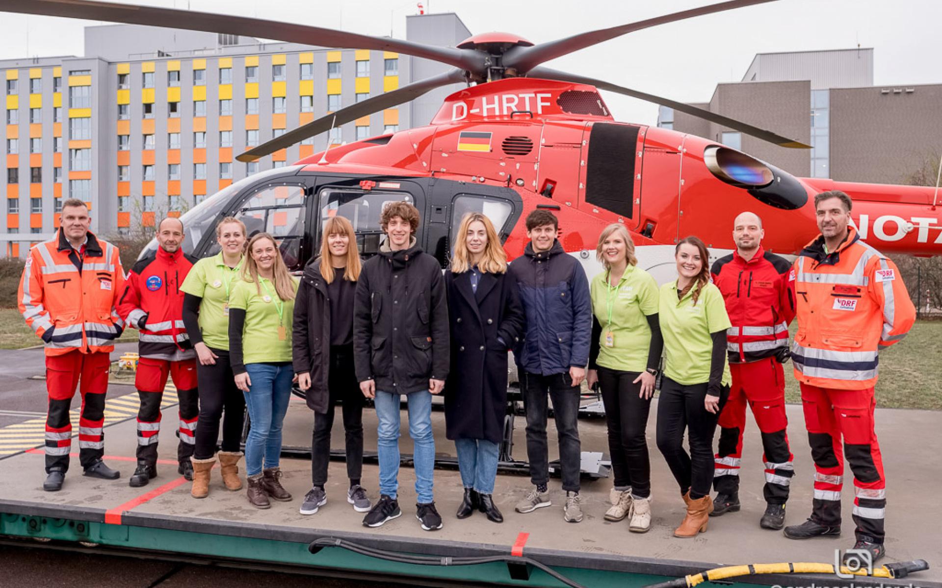 Auch ein Besuch bei Christoph 36, der H 135 der DRF Luftrettung, durfte nicht fehlen. Foto Andreas Lander.