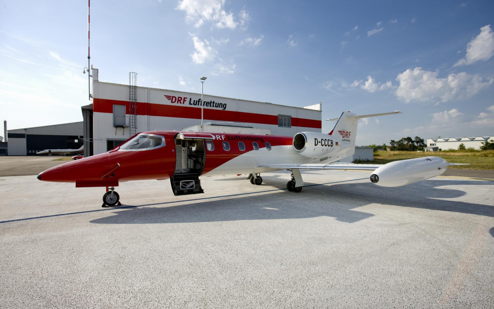 Für Repatriierungen setzt die DRF Luftrettung Learjet 35 ein. Foto: DRF Luftrettung