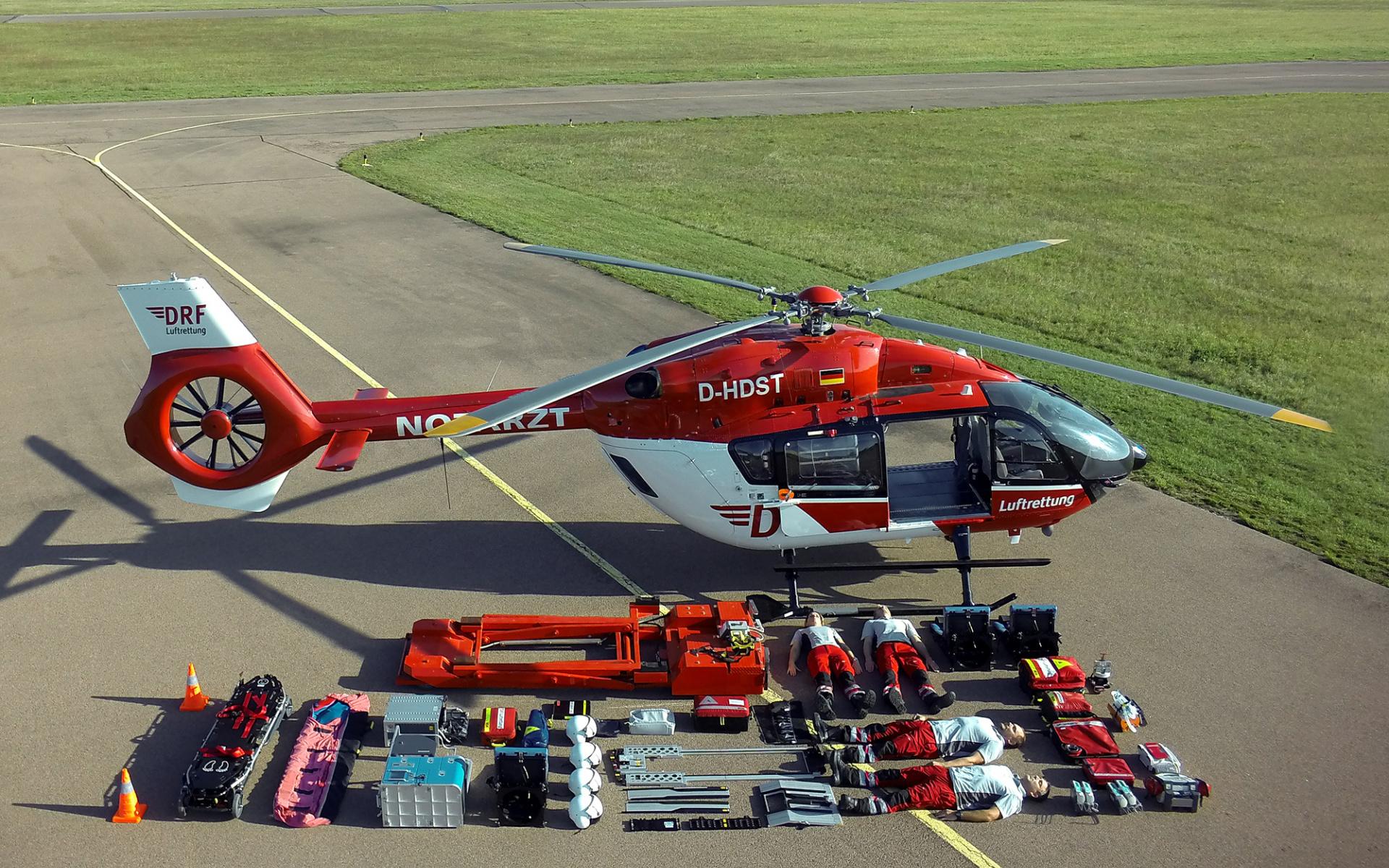 Auf über 2.000 Einsätze jährlich kommen die beiden Hubschrauber der Station Halle.