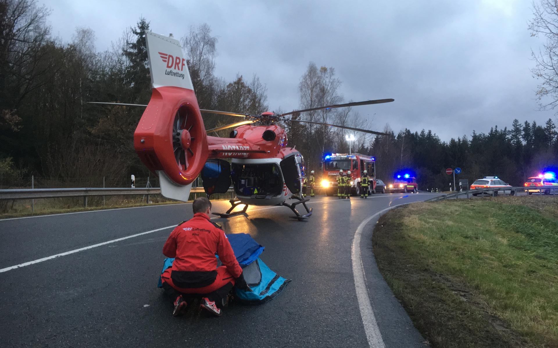Einsatz im Morgengrauen für die Regensburger Luftretter.