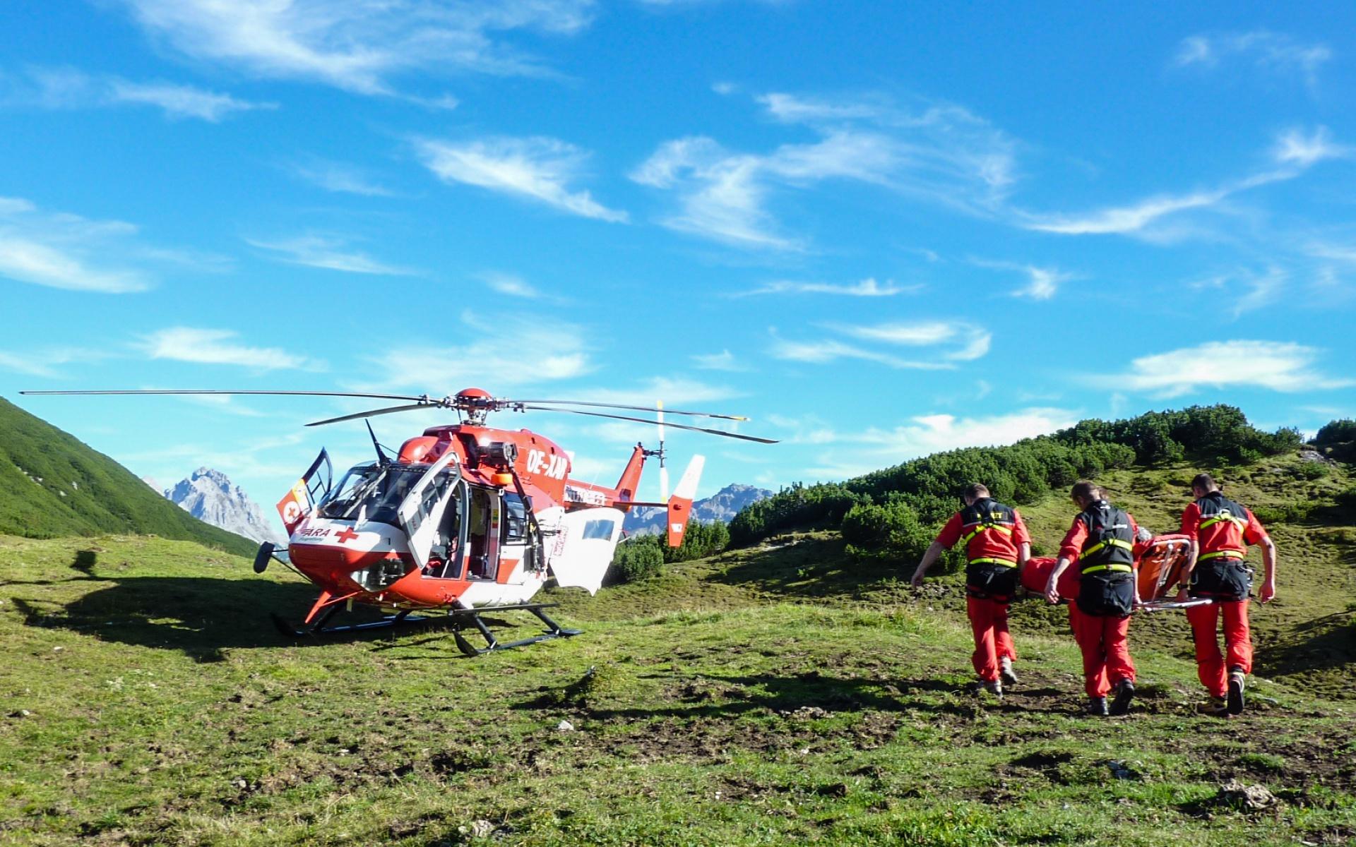 Einsatz im Hochgebirge für RK-2 der ARA Flugrettung.