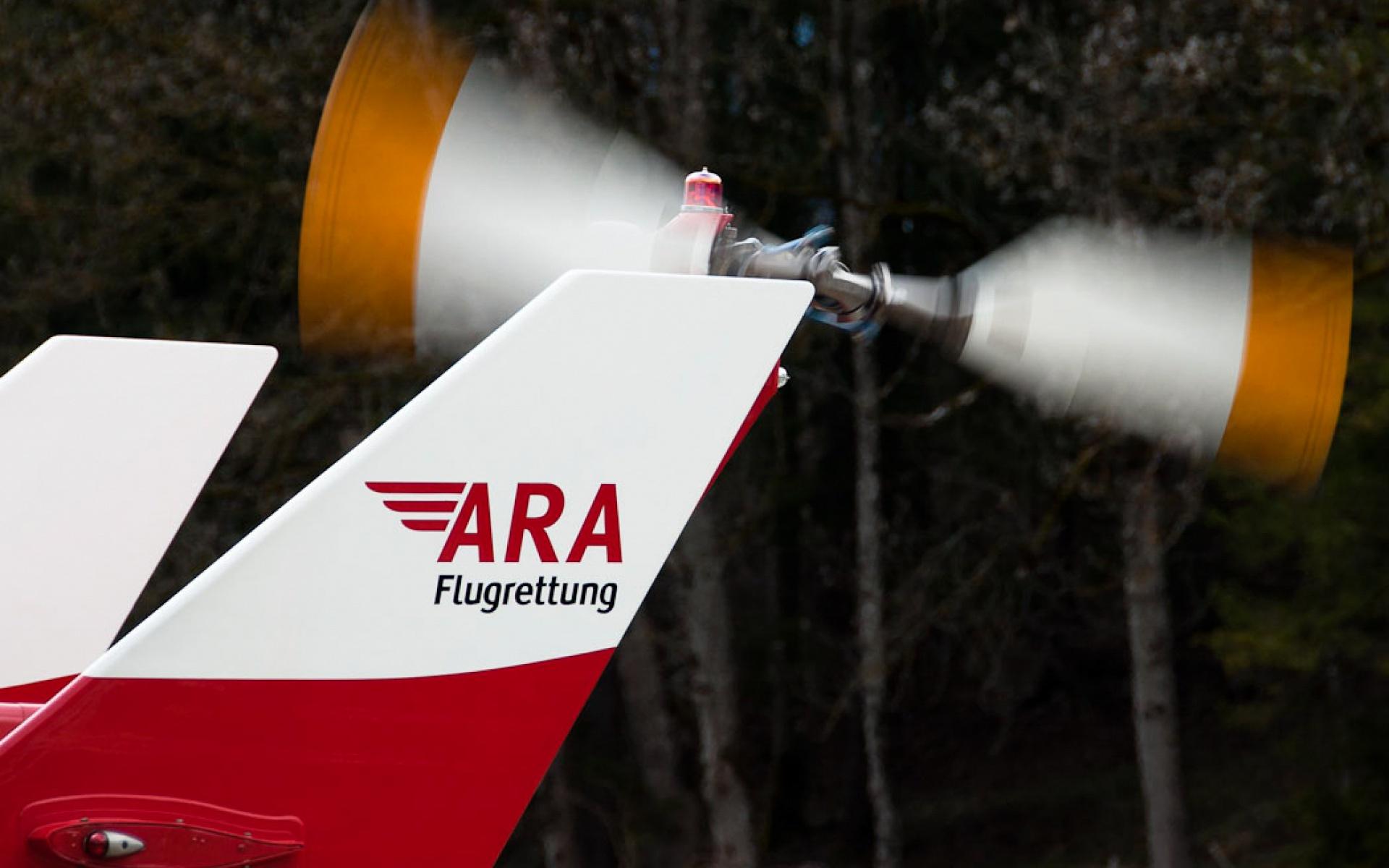 Einsatz im Hochgebirge für RK-2 der ARA Flugrettung. Symbolbild.