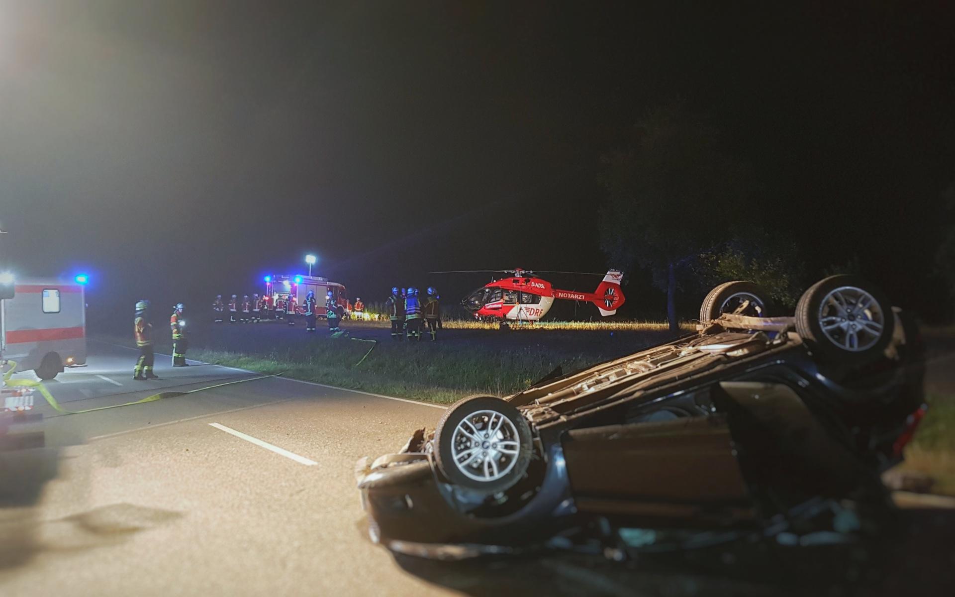 Trotz nächtlicher Stunde schnell zur Stelle, um eine schwer verletzte Autofahrerin zu retten: Die Luftretter aus Villingen-Schwenningen.