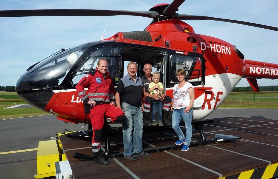Luftraumbeobachter Karl Schätzler ist seinen Kollegen der Station Weiden dankbar für seine Rettung.