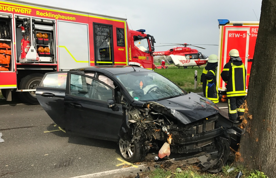 Wenn ein Fahrzeug mit hoher Geschwindigkeit mit einem Baum kollidiert, dann wirken enorme Kräfte auf die Insassen. Für die Rettungskräfte bedeutet dies, dass sie mit schwerverletzten Patienten rechnen müssen.