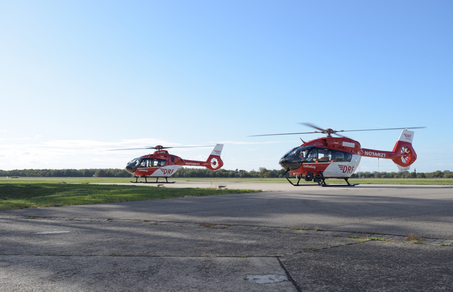 Quelle: DRF LuftrettungDie DRF Luftrettung hat heute zwei neue Maschinen von Airbus Helicopters übernommen. Quelle: DRF Luftrettung