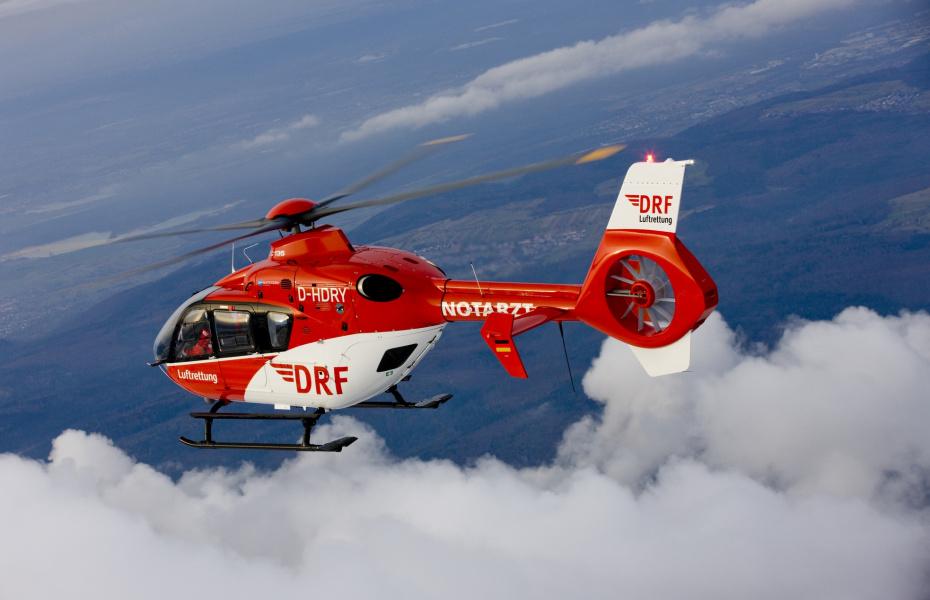 17.000. Einsatz für die Nordhäuser Luftretter nach der Übernahme des Flugbetriebs durch die DRF Luftrettung. Symbolbild.