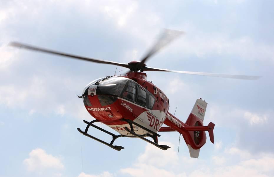 Rettungsaktion im Harz: Nach dem Sturz mit dem Mountainbike wurde ein junger Mann von den Nordhausener Luftrettern in eine Klinik transportiert.