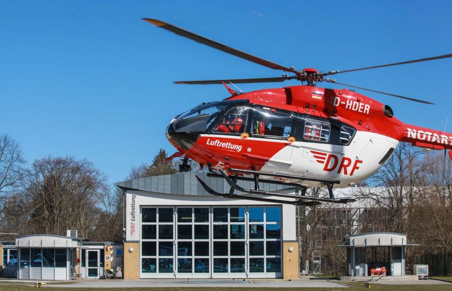 Heute wurde an der Station Greifswald ein neuer Christoph 47 begrüßt: eine EC 145 (Foto: Gründling, Galerie Usedomfotos).