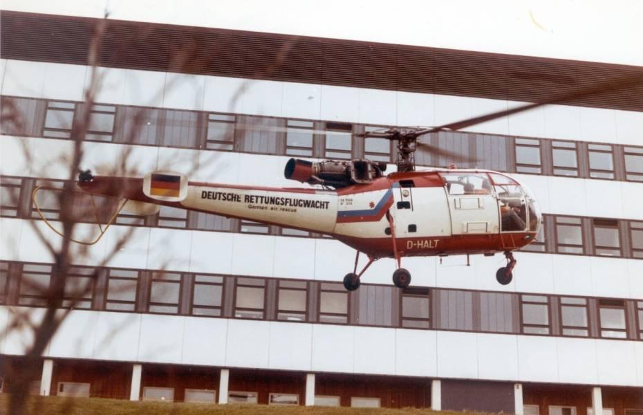 So sah der erste Hubschrauber der DRF Luftrettung aus, der ab dem 19. März 1973 die Luftrettung im Großraum Stuttgart sicherstellte.