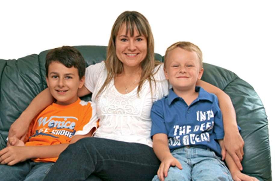 Andreas und Daniel mit Mutter Jaroslava