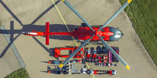 Tetris-Challenge erfolgreich gemeistert - die Crew der Station Halle am Flughafen Halle/Oppin. Foto: Meike Glöckner