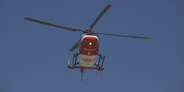 An der Station Halle kommt ein Hubschrauber des Typs BK 117 zum Einsatz. Symbolbild.