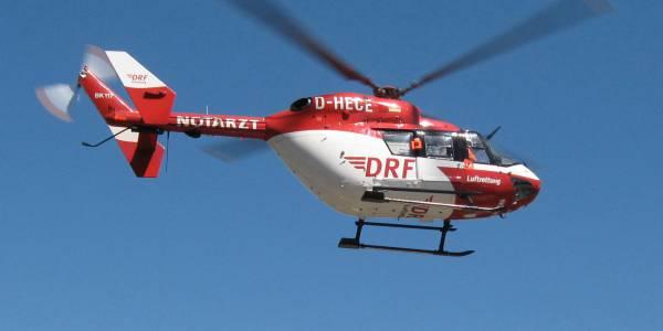 Dachsturz in Wiernsheim: Schnelle Hilfe durch Christoph 51 der DRF Luftrettung. Symbolbild.