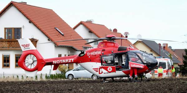 Der Nordhäuser Hubschrauber Christoph 37 im Einsatz.