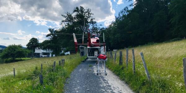 Schneller Transport an Bord von Christoph Dortmund.
