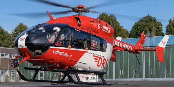 Seit heute startet die Crew von Christoph Dortmund mit einer modernen EC145 zu ihren lebensrettenden Einsätzen (Quelle: DRF Luftrettung).