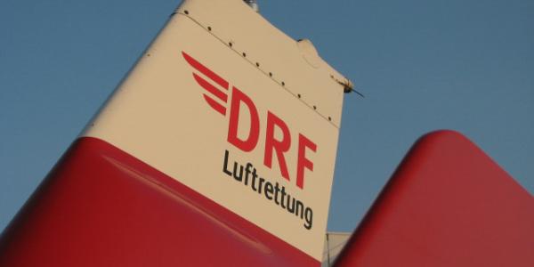 Detail einer EC 135 der DRF Luftrettung.