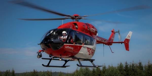 An der Station Halle kommt ein Hubschrauber des Typs EC 145 zum Einsatz (Symbolbild).
