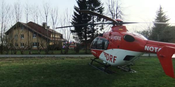Ein plötzlich auftretender epileptischer Anfall machte die schnelle Hilfe aus der Luft notwendig.