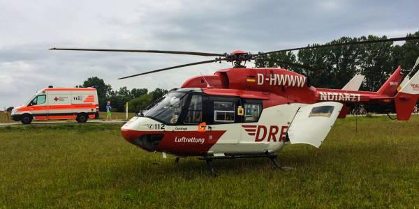 Schnelle Hilfe benötigte Mitte August eine Radfahrerin, die schwer gestürzt war. Der Einsatz war der 1.000. der Greifswalder Luftretter in diesem Jahr.