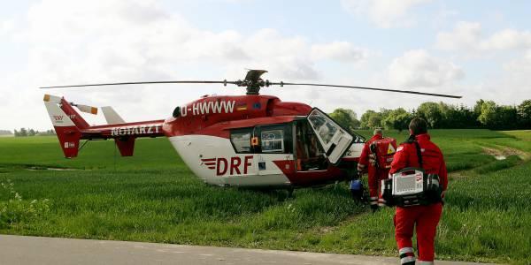 Nach einem Leitersturz benötigt ein Mann die schnelle Hilfe der Greifswalder Luftretter. (Symbolbild)