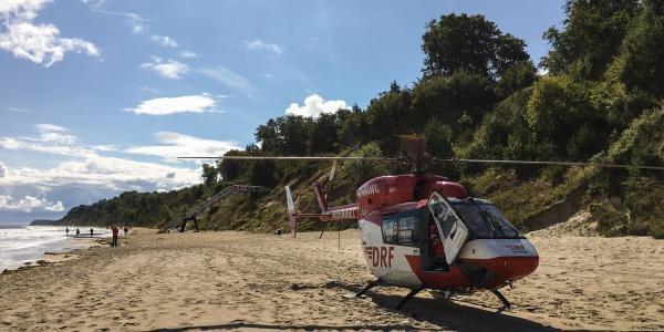 Mit dem Rettungswagen nicht erreichbar: der Strand bei Stubbenfelde auf Usedom.