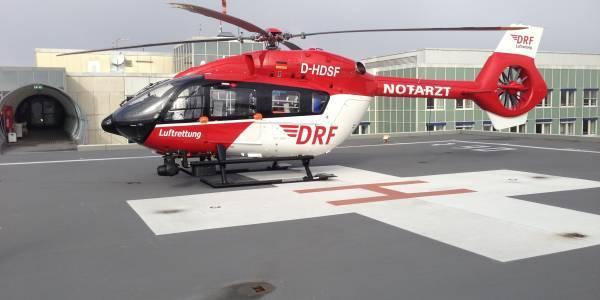 Der erste weltweit erste Luftrettungseinsatz mit einer EC 145 T2 führte die Besatzung von Christoph München nach Fürstenfeldbruck.
