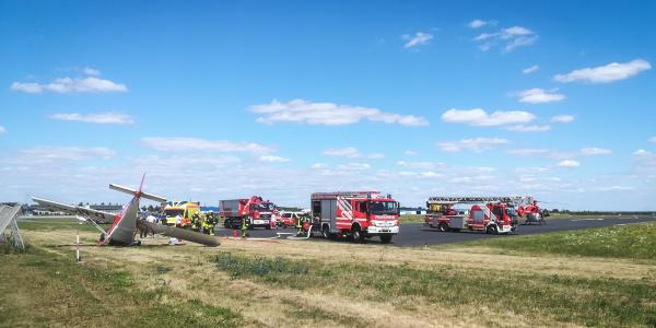 Zwei Schwerverletzte forderte ein Flugunfall kürzlich in Magdeburg. Christoph 36 wurde zur Versorgung der Patienten alarmiert.