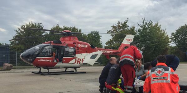 Mit vereinten Kräften kämpften die Rettungskräfte, unter ihnen die Mannheimer Besatzung der DRF Luftrettung, um das Leben einer Frau, die von einem Baum gestürzt war.