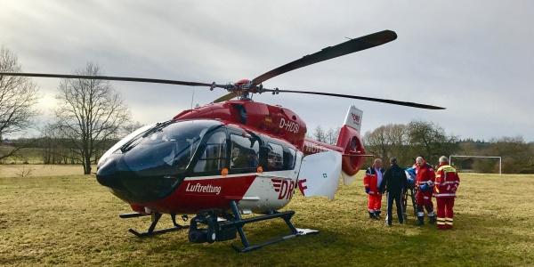Ein Quadfahrer verunglückte so schwer, dass er an Bord von Christoph Nürnberg in eine Klinik geflogen werden musste.