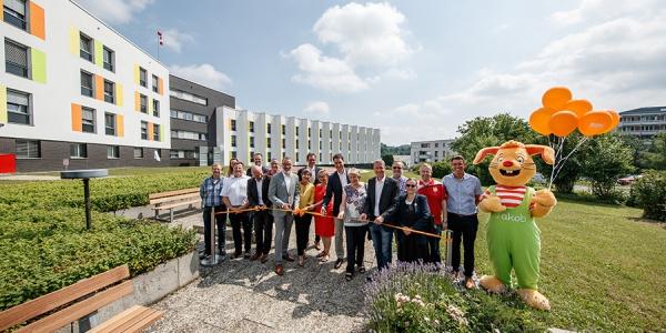Feierliche Eröffnung des neuen Landeplatzes. Foto: Michael Fuchs / Rems-Murr-Kliniken gGmbH